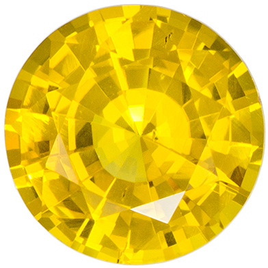 Deal on 6 mm Yellow Sapphire Genuine Gemstone in Round Cut, Pure Rich Yellow, 0.94 carats