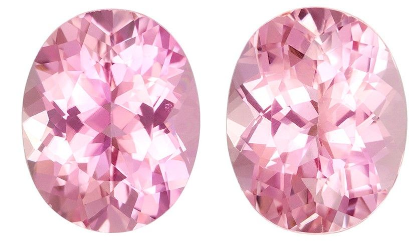 Authentic Pink Tourmaline Gemstones Pair, Oval Cut, 7.06 carats, 11 x 8.8 mm , AfricaGems Certified - A Deal