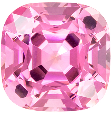 Exquisite Pink Tourmaline 7.07 carats, Cushion shape gemstone, 11.4  mm
