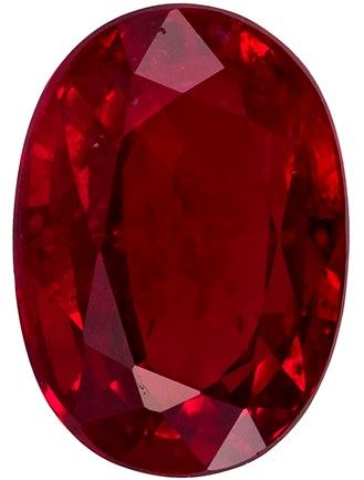 Loose Fiery Ruby Gemstone, Oval Cut, 1.17 carats, 7.1 x 5.1 mm , AfricaGems Certified - A Great Deal