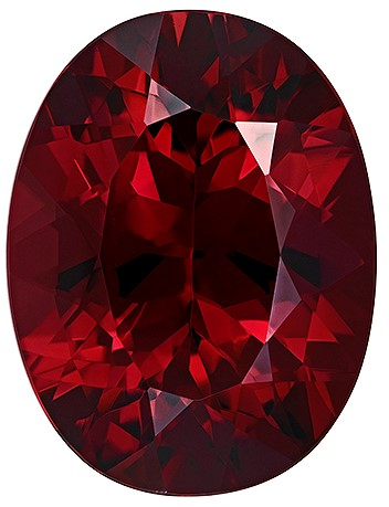 Terrific Buy on Red Rhodolite Garnet Gem, 7.16 carats, Oval Cut, 13.5 x 10.3  mm , Very High Quality Gem