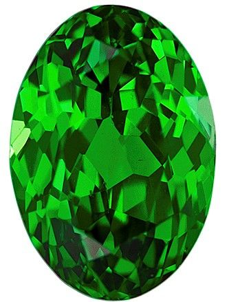 Real Vivid Tsavorite Gemstone, Oval Cut, 1.24 carats, 7.2 x 5 mm , AfricaGems Certified - A Great Buy