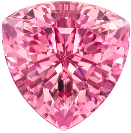 Spectacular Pink Tourmaline 7.24 carats, Trillion shape gemstone, 12.3  mm