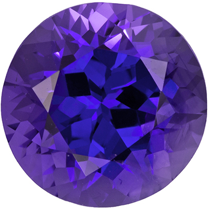 7.3 mm Round Cut, 2.04 carats Purple Sapphire Gemstone in Round Cut, Rich Violet Purple Color - Stunning Gem - SOLD