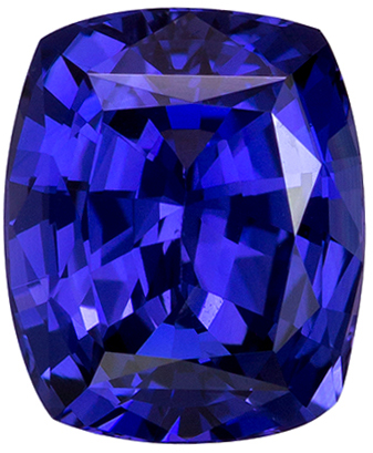 7.3 x 6 mm Purple Sapphire Genuine Gemstone in Cushion Cut, Purple to Blue, 1.74 carats
