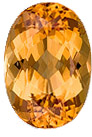 Faceted Loose 14.2 x 9.9 mm Topaz Loose Genuine Gemstone in Oval Cut, Peachy Golden, 7.38 carats