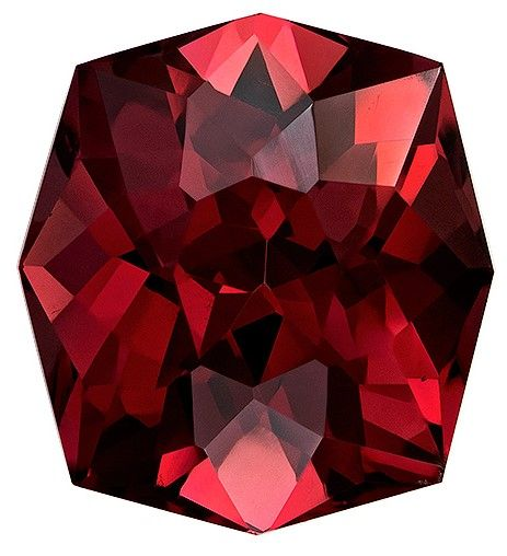 Natural Rhodolite Garnet Gemstone, 7.43 carats, Cushion Cut, 11.9 x 10.9 mm, A Beauty of a Gem