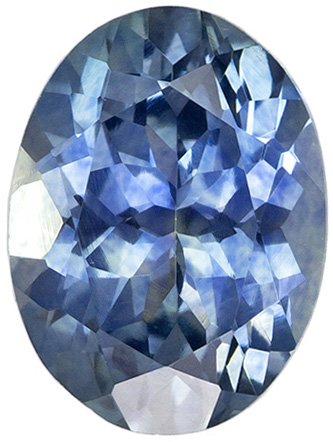 7.5 x 5.6 mm, 1.4 carats Oval Blue Green Sapphire Loose Gem, Medium Rich Blue
