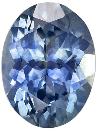 7.5 x 5.6 mm Blue Green Sapphire Genuine Gemstone in Oval Cut, Blue Green, 1.4 carats