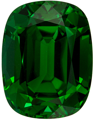 Impressive Tourmaline Genuine Gem, 7.54 carats, Rich Grass Green, Cushion Cut, 12.9 x 9.9mm