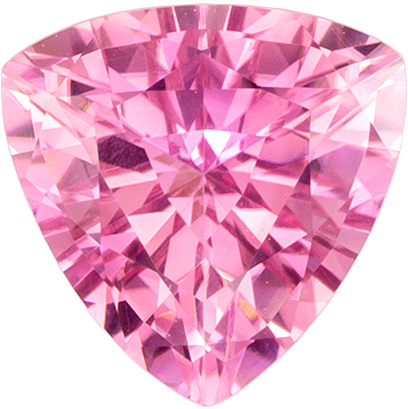 Natural Pink Tourmaline 1.51 carats, Trillion shape gemstone, 7.7  mm