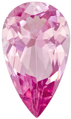 Pink Tourmaline Loose Gemstone, Pear Cut, 7.7 x 4.5 mm, 0.59 carats