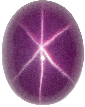 7.9 x 6.2 mm Star Ruby Genuine Gemstone in Oval Cut, Pink Red, 2.84 carats