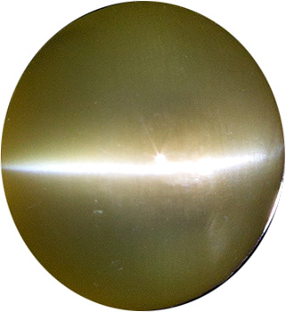 7 mm Catseye Chrysoberyl Genuine Gemstone in Round Cut, Milky & Honey, 1.87 carats