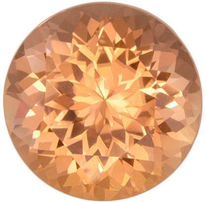 Gorgeous Peach Tourmaline 1.35 carats, Round shape gemstone, 7  mm