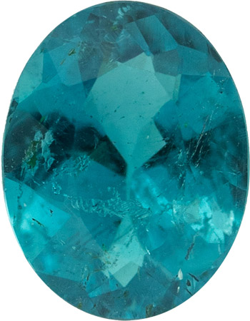 Peacock Blue Color Paraiba Brazilian Tourmaline Gem in Oval Cut, No Heat with AGL Cert, 1.05 carats