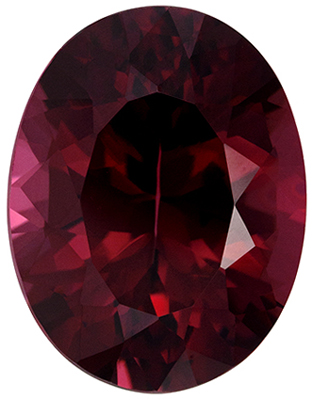 Great Rhodolite Natural Gem, 8.03 carats, Rich Raspberry Red, Oval Cut, 13.7 x 10.6mm