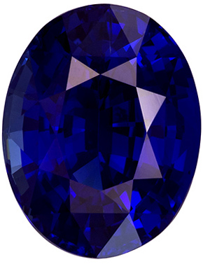 Very Fine Royal Blue Unheated GIA Certified Blue Sapphire Gemstone in 8.13 carat, Impressive Gem in Large 13.27 x 10.35 x 7.15 mm Size