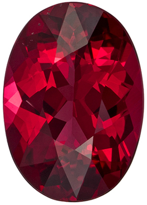 Best 8.2 x 5.8 mm Red Spinel Genuine Gemstone in Oval Cut, Pigeon's Blood Red, 1.2 carats
