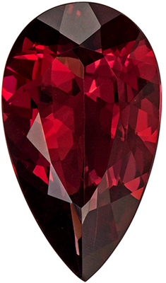 Very Attractive Pear Cut Red Rhodolite Gem, 18 x 10.3 mm, Rich Raspberry Red Color, 8.35 carats