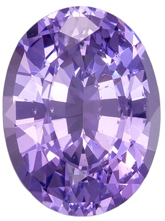 8.4 x 6.4 mm Purple Spinel Genuine Gemstone in Oval Cut, Vivid Lavender, 1.74 carats
