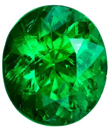 Unset Vibrant Emerald Gemstone, Oval Cut, 1.53 carats, 8.5 x 7.4 mm , AfricaGems Certified - A Low Price