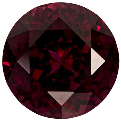 8.54 carats Impressive Rhodolite Gemstone in Intense Reddish Raspberry, 12.2 mm Round