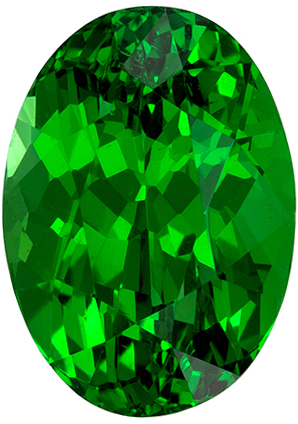 Exquisite Green Tsavorite Garnet 2.14 carats, Oval shape gemstone, 8.6 x 6.2  mm