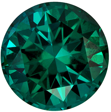 8.8 mm Blue Green Tourmaline Genuine Gemstone Round Cut, Medium Blue Green, 2.84 carats