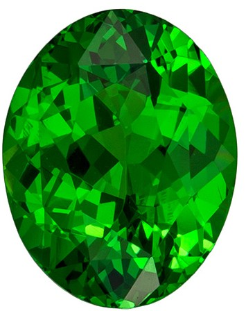 Rare Green Tsavorite Garnet 2.16 carats, Oval shape gemstone, 8.8 x 7  mm