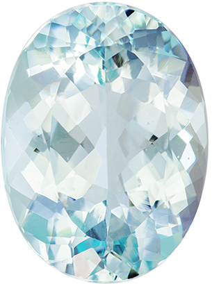 Fine Quality  8.89 carat Blue Aquamarine Gemstone in Oval Cut 16.5 x 12.2 mm