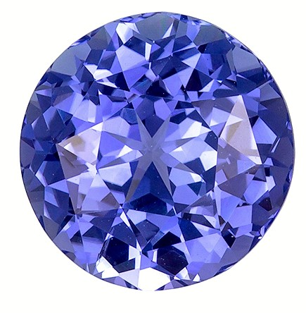 8.9 mm Blue Sapphire Genuine Gemstone in Round Cut, Vivid Cornflower Blue, 3.32 carats