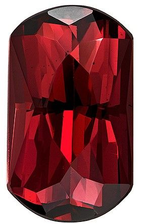 Heirloom Rhodolite Garnet Gemstone, 8 carats, Emerald Cut, 14.7 x 8.5 mm, Great Looking Stone