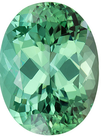 9.25 carats Blue Green Tourmaline Loose Gemstone in Oval Cut, Rich Blue Green, 15.2 x 11.4 mm