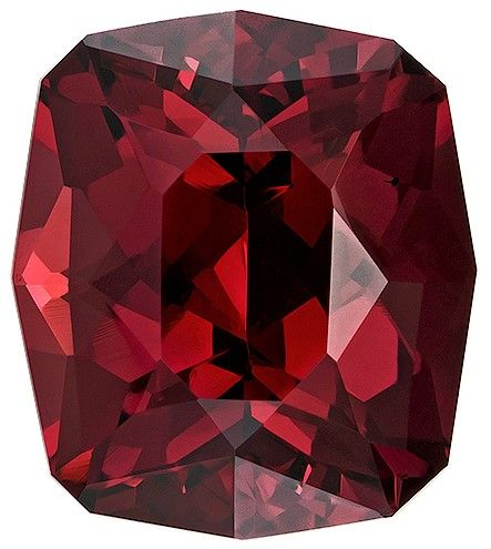 Genuine Rhodolite Garnet Gemstone, 9.25 carats, Cushion Cut, 12.9 x 11.3 mm, Low Low Price