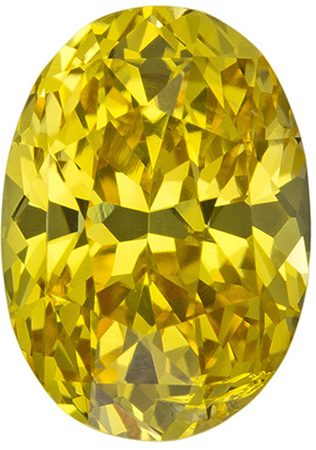 9.3 x 6.6 mm Yellow Sapphire Genuine Gemstone in Oval Cut, Intense Medium Yellow, 2.73 carats