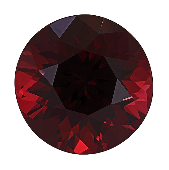 Great Deal on Red Rhodolite Garnet Faceted Gem, 9.34 carats, Round Cut, 12.4 mm , Very High Quality Gem