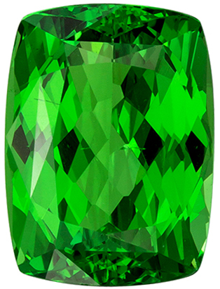 Beautiful Green Tsavorite Garnet 3.03 carats, Cushion shape gemstone, 9.4 x 6.9  mm