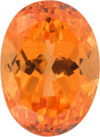 Fiery Rich Orange Oval German Cut Spessartite Garnet Loose Gemstone, 3.37 carats