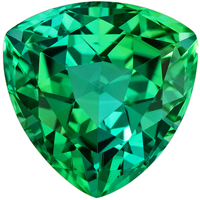 Stunning Blue Green Tourmaline 2.91 carats, Trillion shape gemstone, 9  mm