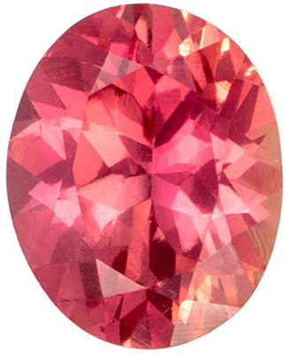 A Beautiful 0.47 carats Sapphire Genuine Gemstone in Oval Cut, Medium Orange, 5.1 x 4.1 mm
