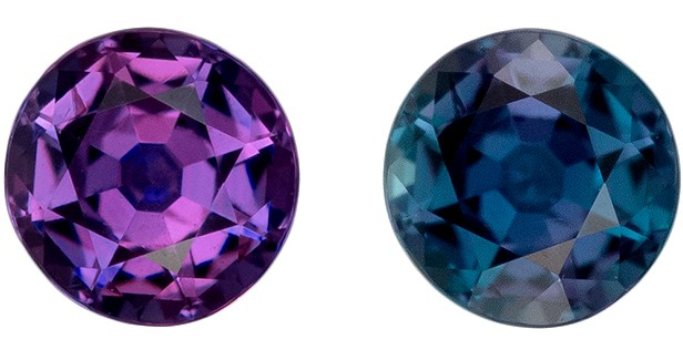 A Beauty of A Gem  Color Change Alexandrite Genuine Gemstone, 0.16 carats, Round Shape, 3.1 mm