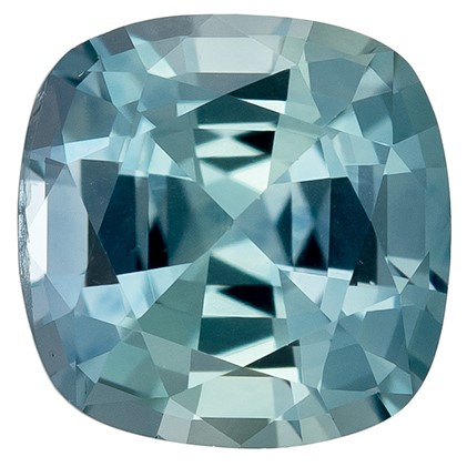 A Beauty of A Gem  Cushion Cut Genuine Blue Green Sapphire Loose Gemstone, 1.2 carats, 6 x 5.9 mm , Such Color