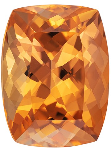 A Beauty of A Gem  Cushion Cut Natural Imperial Topaz Loose Gemstone, 6.22 carats, 12.6 x 9.5 mm , Fine Material