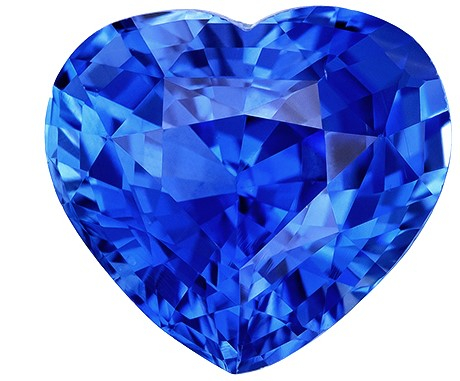 A Beauty of A Gem  Heart Cut Natural Blue Sapphire Gemstone, 2.55 carats, 8.5 x 7.7 mm , Great Ring Gemstone