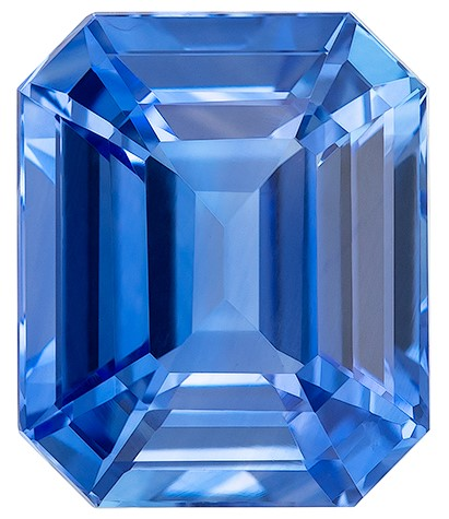 A Beauty of A Gem  Octagon  Cut Faceted Blue Sapphire Loose Gemstone, 4.07 carats, 9.3 x 7.8 mm , Fine Material