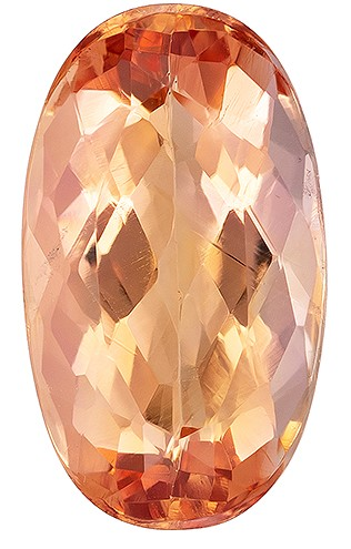 A Beauty of A Gem  Oval Cut Faceted Imperial Topaz Gemstone, 1.41 carats, 8.9 x 5.1 mm , A Must Have Gem