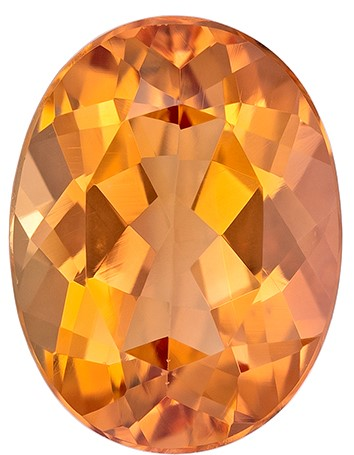 A Beauty of A Gem  Oval Cut Faceted Imperial Topaz Gemstone, 1.7 carats, 8.4 x 6.3 mm , Very Bright Gem