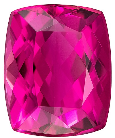 Low Price on Top Gem  Rubellite Tourmaline Genuine Gemstone, 2.88 carats, Cushion Shape, 9.5 x 7.7 mm