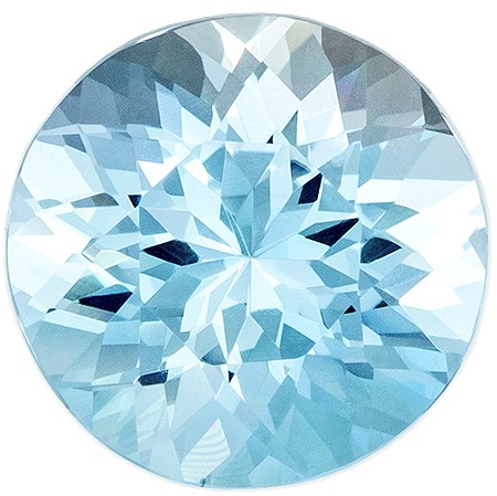 Hard to Find Gem Blue Aqua Genuine Gemstone, 2.13 carats, Round Shape, 8.8 mm